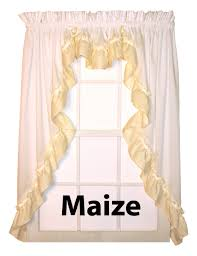 Country Ruffled Valances Bj U0027s Country Charm Lynn Ruffled Swags Lynn Ruffled Swag Curtains