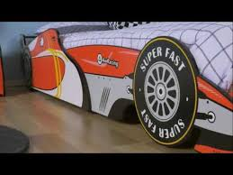 fantastic furniture kids speedy racing car bed youtube