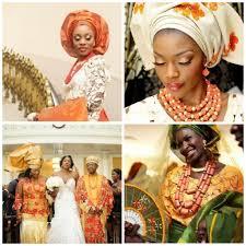 traditional west african wedding attire orange sorbet