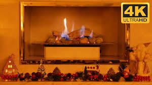 4k christmas fireplace video ultra hd tv screensaver youtube