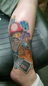 nintendo tattoos cool video game tattoo pictures and designs