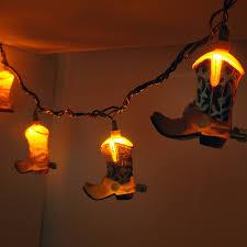 cowboy boot decorative string lights decorative string lights