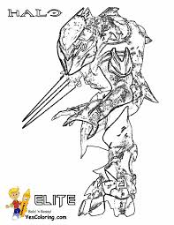 halo elite with energy sword at coloring pages for kids boys