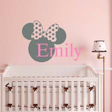 minnie mouse baby girl nursery beautiful glitter minnie mouse gallery of name wall decal minnie mouse head baby girl name stickers nursery bedding room decoration art with minnie mouse baby girl nursery
