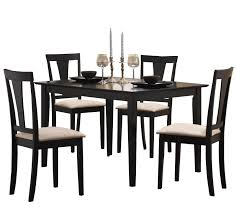 coaster dining room sets coaster 5pc casual dining table and chairs set in black finish ebay