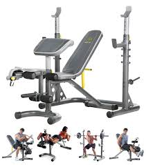 gold u0027s gym xrs 20 olympic workout bench home power rack lifting