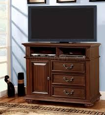 Dark Oak Wood Furniture Cm7811 Landaluce Tv Stand In Antique Style Dark Oak