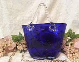 Murano Glass Purse Vase Glass Purse Vase Etsy Uk
