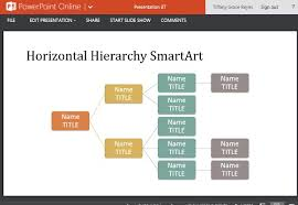 organizational chart template for powerpoint online