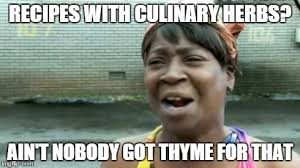 Culinary Memes - aint nobody got time for that meme imgflip