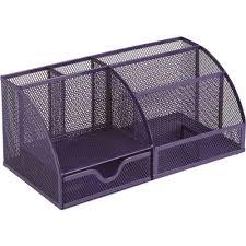 Staples Desk Organiser Osco Mesh Desk Organiser Purple Staples
