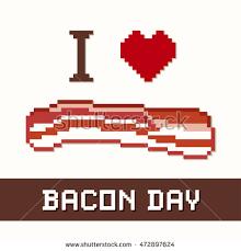 bacon day bacon slice stock vector 472897624