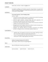 Housekeeping Supervisor Resume Procurement Resume Resume For Your Job Application