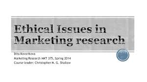 ethical issues in marketing ethical issues in marketing research