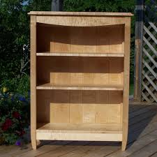 Bookcase Maple Tiger Maple Bookcase U2014 Blue Hill Cabinet And Woodwork