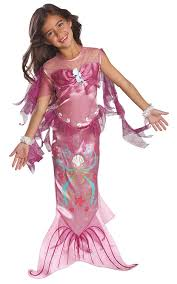 sports halloween costumes for girls amazon com child u0027s pink mermaid costume small toys u0026 games