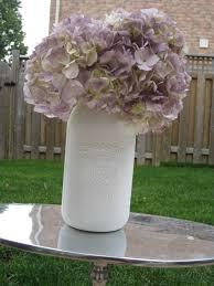 Mason Jar Floral Centerpieces The Coral Charm New Vintage Painted Mason Jar Floral Arrangements