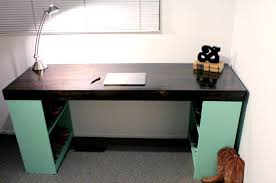 Diy Desks Design Ideas Diy Desk With Bookshelf Legs Diy Office Desks For