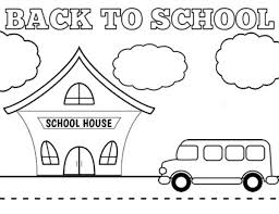 Coloring Page Of A School Back To School Coloring Pages Best Coloring Pages For Kids by Coloring Page Of A School
