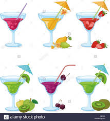 lemon drop martini clip art cocktail umbrella stock vector images alamy