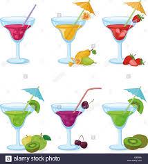 lemon drop martini clip art cocktail umbrella stock vector images alamy