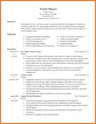 Example Resume Waitress Sample Resume For Restaurant Server Resume Skills Of Waitress Best