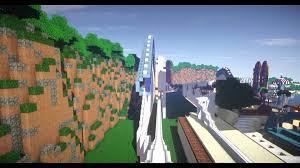 Map Of California Adventure California Screamin U0027 In Minecraft Youtube