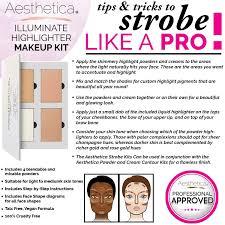 amazon com aesthetica strobe series highlighter makeup kit 5