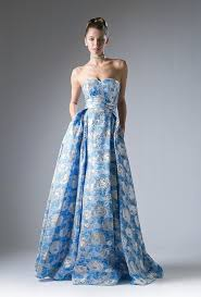 Formal Dresses With Pockets Long Blue Floral Print Dress With Pockets By Cinderella Divine