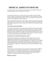 Sample Resume Medical Assistant by Medical Assistant Objective For A Resume Free Resume Example And