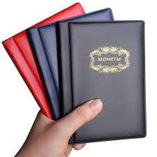 wallet size photo album russian coin album 10 pages 120 pockets coin collection book coin