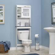 White Bathroom Shelves - space saver bath shelves
