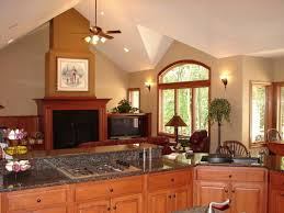 delighful living room colors with oak trim intended design