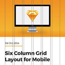 sketch template 6 column grid for iphone by joelfreeborn