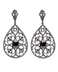 teardrop diamond earrings loree rodkin black diamond filigree teardrop earrings earrings