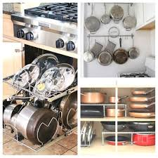 kitchen cabinet storage solutions diy pot and pan pullout 10 awesome tips for organizing pots and pans a cultivated nest