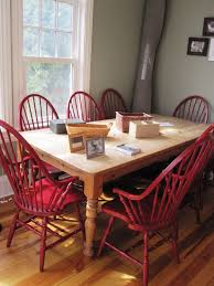 Red Dining Room Table And Chairs Red Windsor Chairs Shmooples
