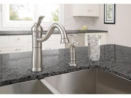 faucet bellevue bridge kitchen faucet with brass sprayer lever