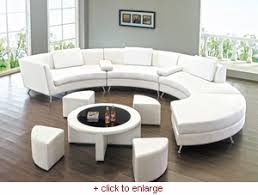 White Leather Coffee Table Modern Line Furniture Commercial Furniture Custom Made