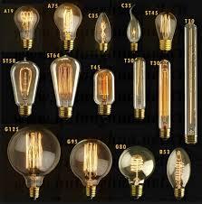 vintage light bulb loop filament fashioned edison e27