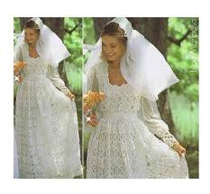 wedding dress pattern crochet wedding dress pattern vintage 70s and crochet wedding