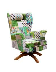 vintage swivel patchwork chair envy kelly swallow bespoke chairs
