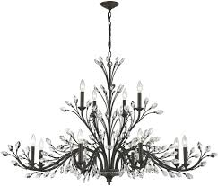 Crystal And Bronze Chandelier Elk 11777 8 4 Crystal Branches Burnt Bronze Chandelier Lamp Elk