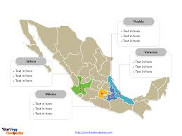 Guerrero Mexico Map by Free Mexico Powerpoint Map Free Powerpoint Templates