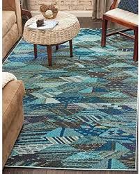 8 By 10 Area Rugs Deals On Unique Loom Sedona Collection Blue 8 X 10 Area Rug 8 X 10