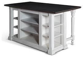 bourbon country kitchen island with drop leaf traditional