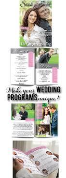 magazine wedding programs make your wedding programs unique try a magazine style wedding