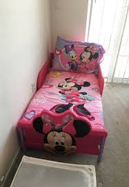 Minnie Mouse Toddler Bed Frame Minnie Mouse Toddler Bed With Bed Set And Mattress Baby