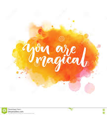 you are magical inspiration saying lettering on bright orange