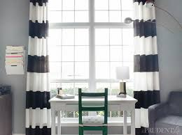 Diy Black Out Curtains Black And White Striped Blackout Curtains Black And White